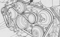 Проверка ремня ГРМ Мерседес W210
