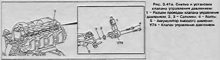 Снятие и установка клапана управления давлением Mercedes Sprinter